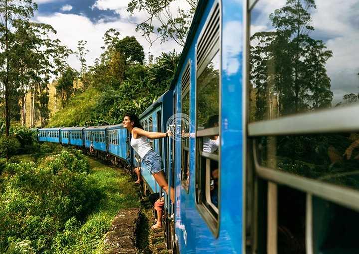 2,我想去斯里兰卡旅行,因为慢悠悠的火车可以让我挂看风景