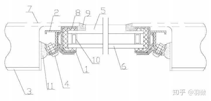 改进型内压紧式侧窗结构