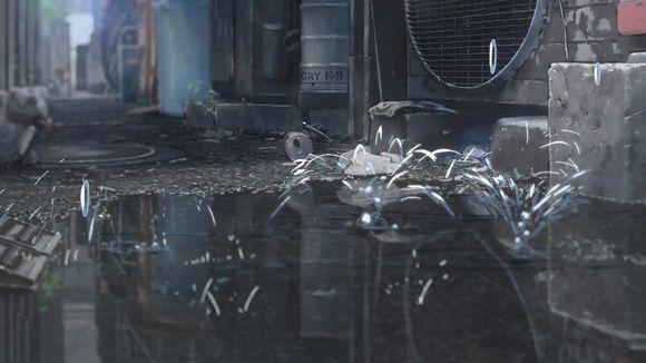 """新海诚是《万叶集》的忠实拥趸,""""物哀之雨""""的意象在他的刻画下入木图片"""