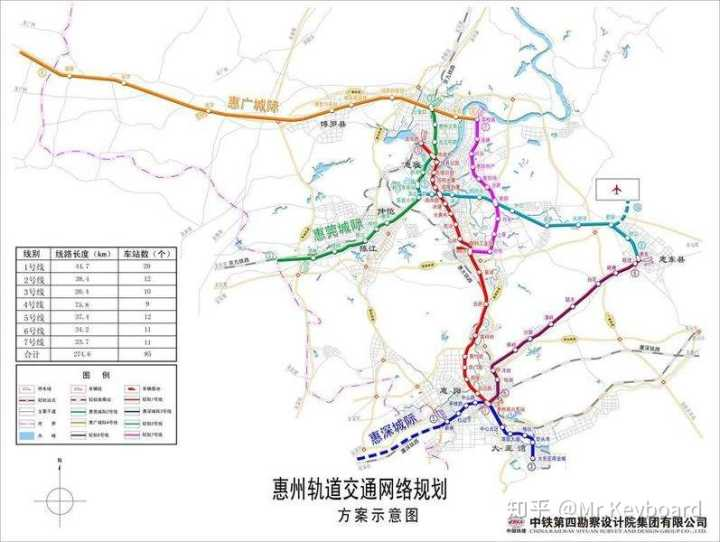 2008年惠州轨道交通线路规划,莞惠城际铁路为2号线