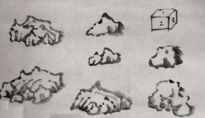 怎样学国画 五 石头的画法