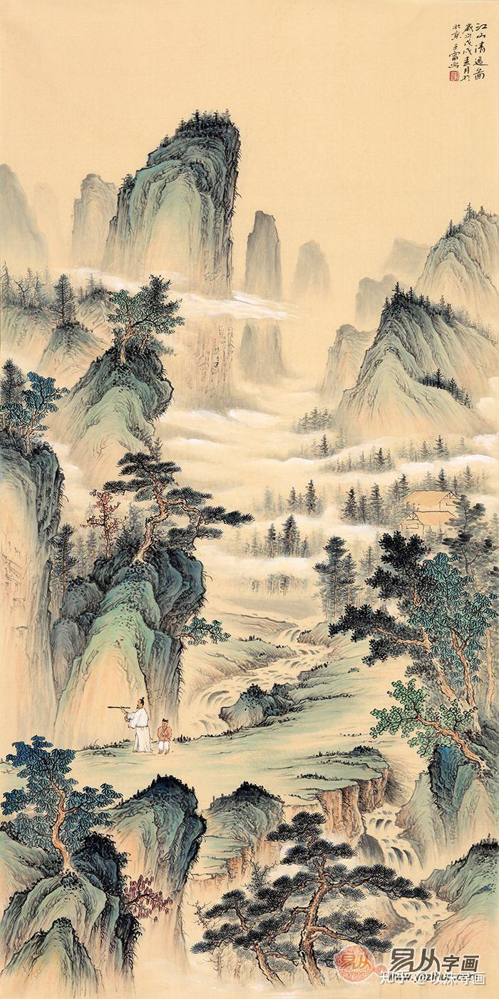 """一是色彩的清淡,画中的意象如袁宏道所说:""""风值水而漪生,日薄山而岚出"""