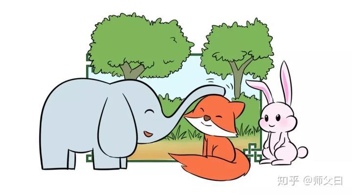 """"""" 小狐狸蹑手蹑脚从小白兔身边溜过,钻进动物乐园.图片"""