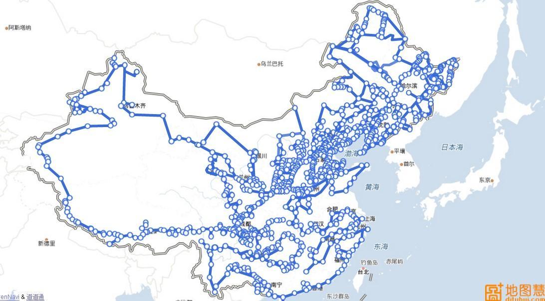 如何使用地图慧快速制作旅游路线图,班车路线图