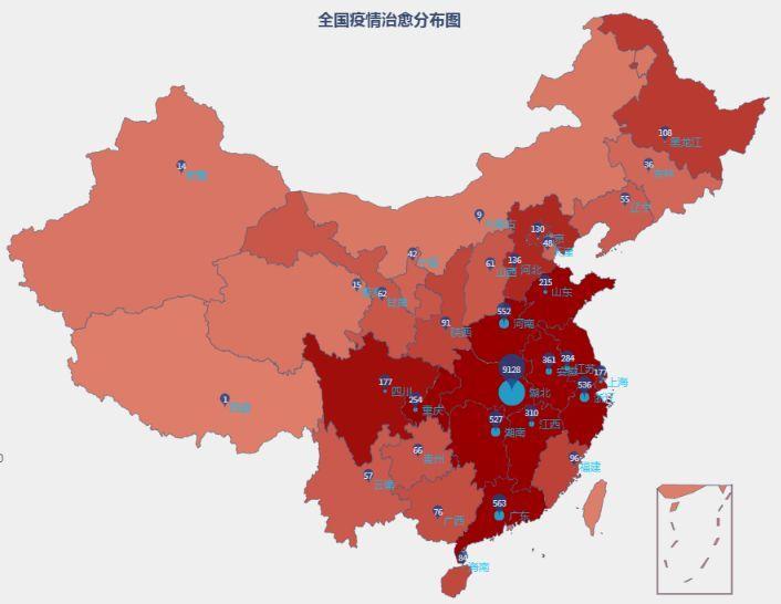 最新疫情地图:全国累计确诊新型肺炎74279例图片