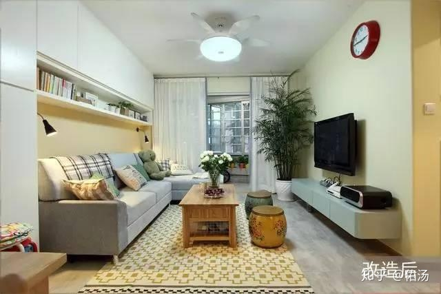 76平米5口之家布局分析,对于总觉房屋不办公空间平面设计空间改造图片