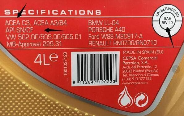 汽油润滑油的不同的标号代表了什么意思?相关的图片