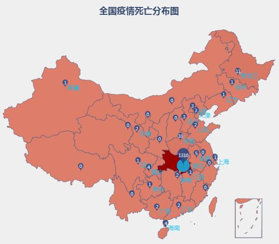 最新疫情地图:全国累计确诊新型肺炎63754例图片