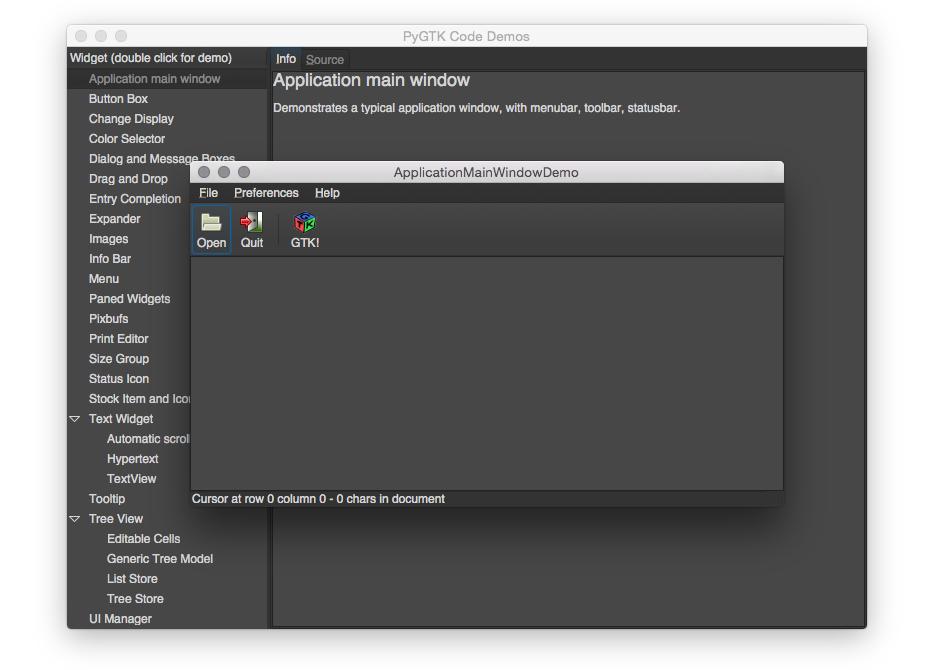 在Mac OS X中安装PyGTK