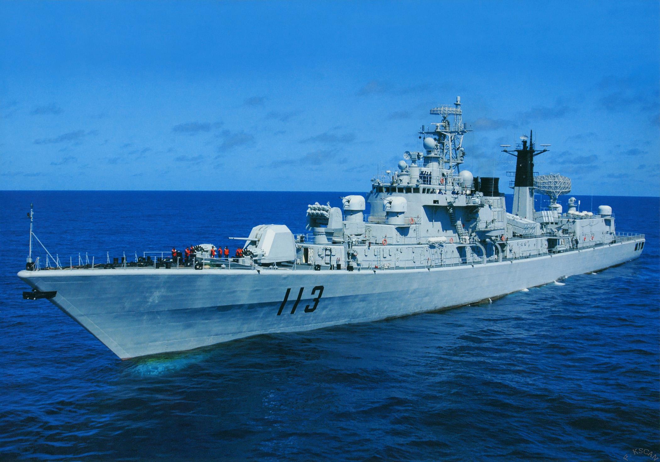 导弹驱逐舰哈尔滨舰_现今中国海军究竟水平如何? - 知乎