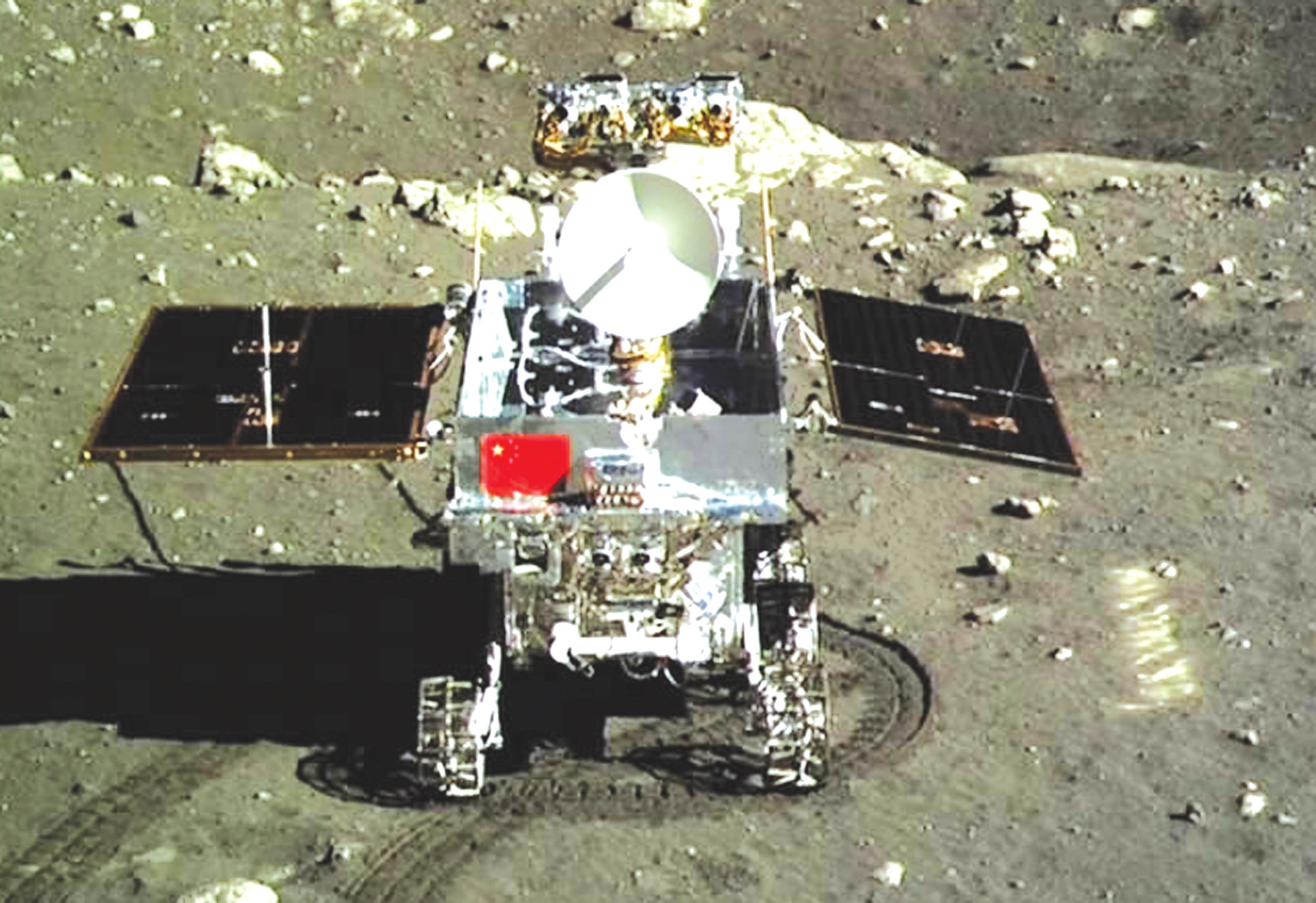 玉兔号月球全景图_走向航天强国——写在第一个中国航天日 - 知乎