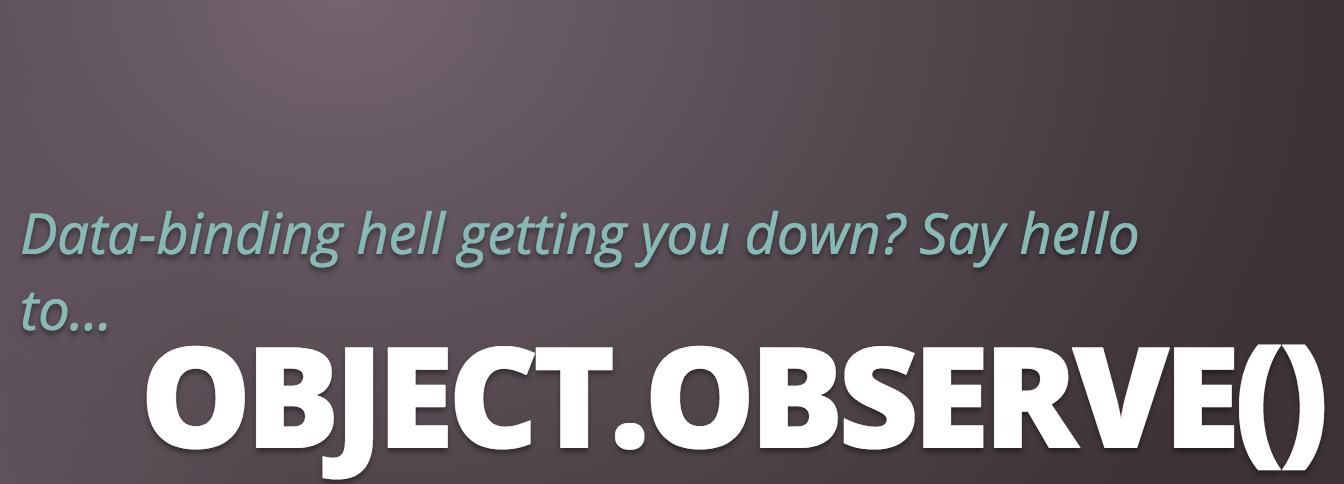 使用Object.observe实现简单的双向绑定