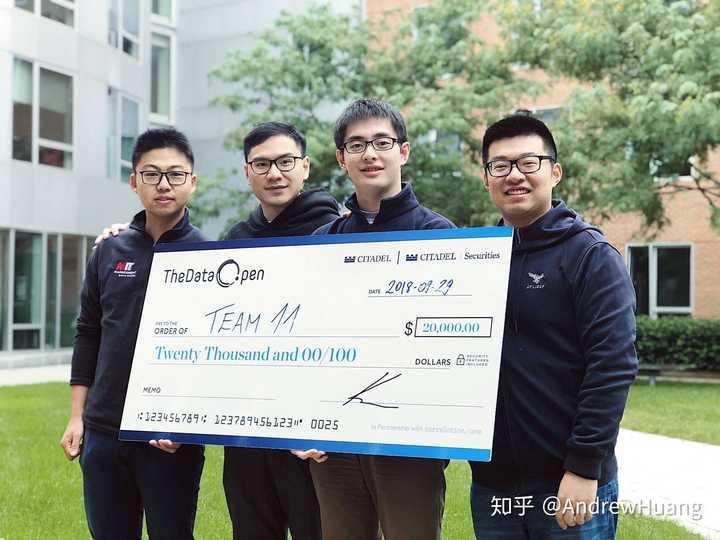 AndrewHuang 的想法: 非常荣幸与队友一起赢得了Citadel Data O… - 知乎