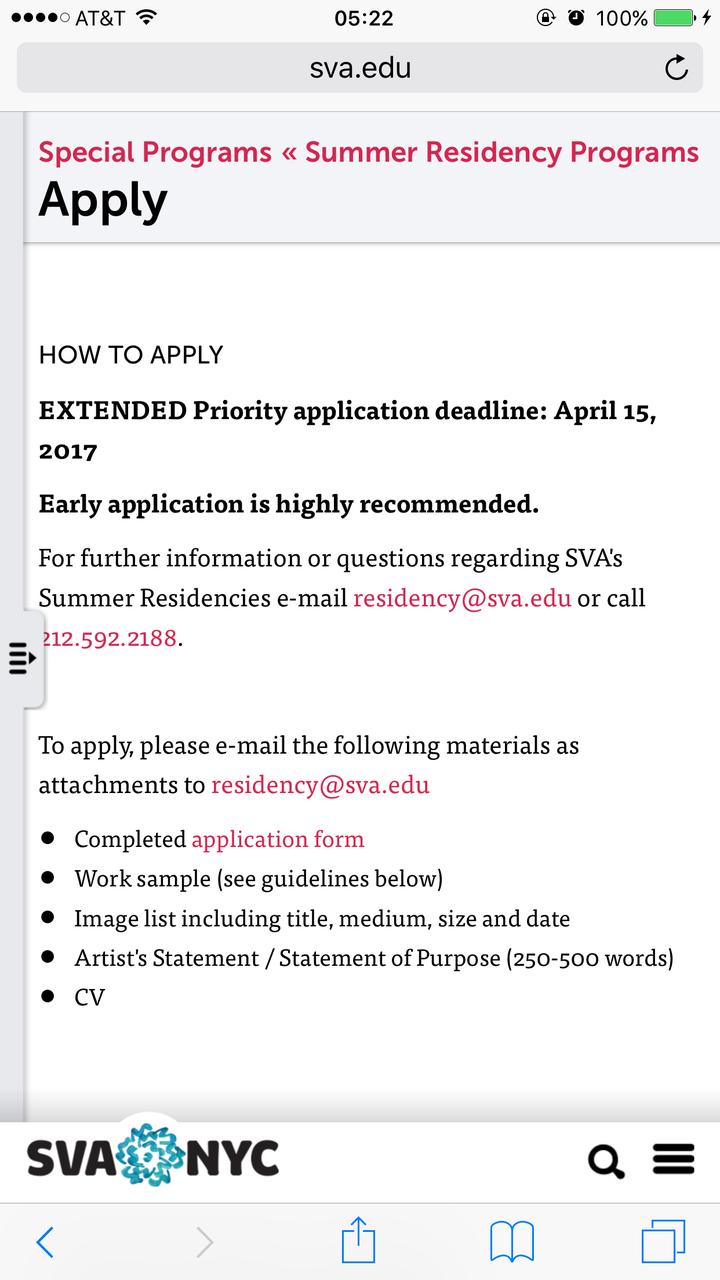 求咨询SVA的summer residency program? - 知乎