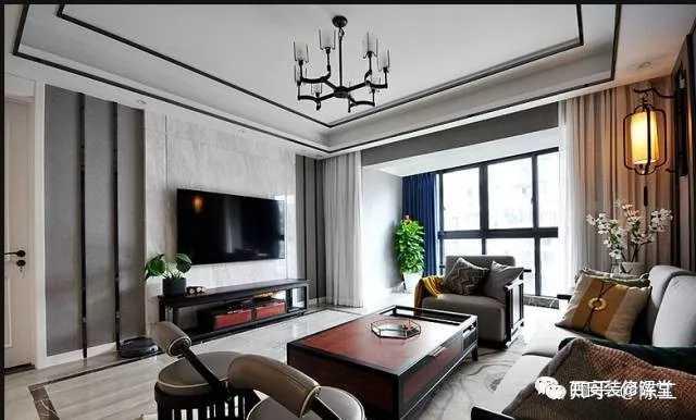 石膏线条电视墙造型_木地板背景墙施工工艺和收边? - 知乎