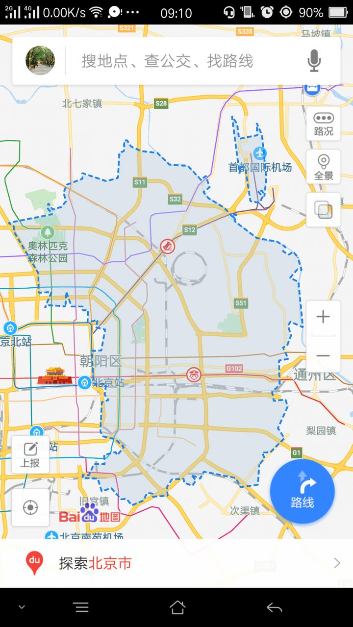 顺义区地图