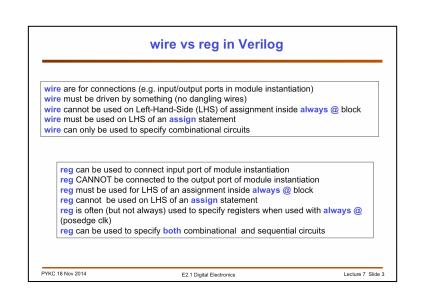 Verilog 中定義訊號為什麼要區分wire 和reg 兩種型別?   程式前沿