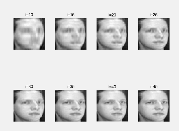 2DPCA 人脸重构