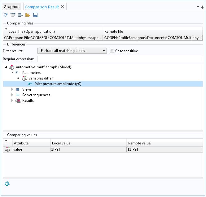 如何在 COMSOL 软件中比较两个模型文件插图9
