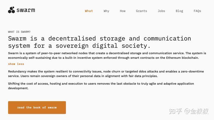 Swarm最初于2015年立项,最开始是以太坊项目官方的一部分,