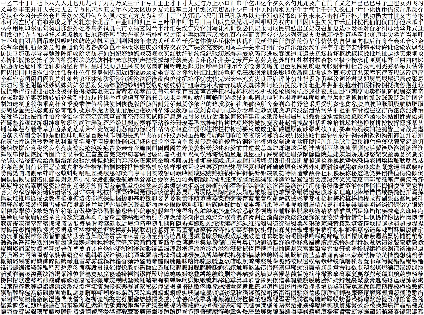 通用规范汉字表 3500一级字壁纸集 知乎