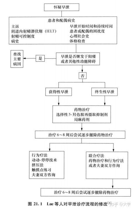 lue等人的早泄诊断治疗流程图(针对比较严重的早泄患者)