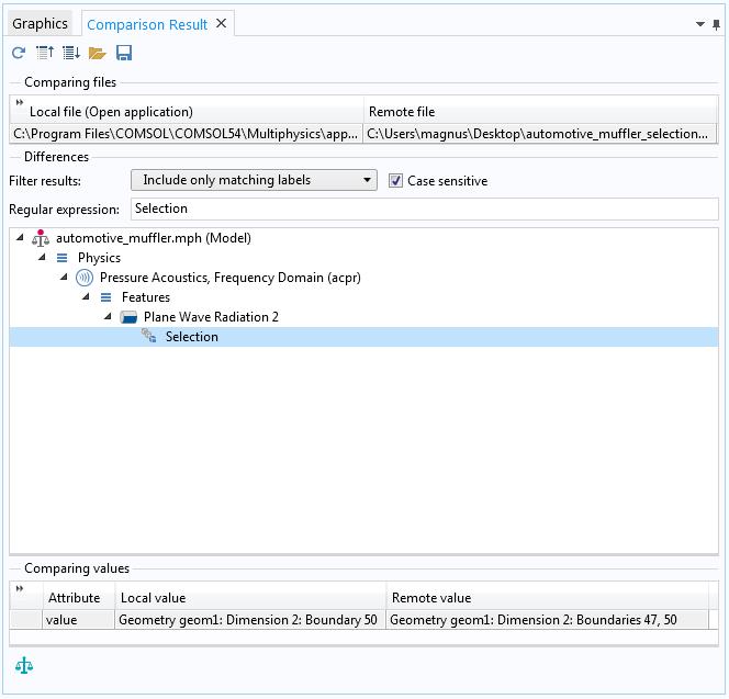 如何在 COMSOL 软件中比较两个模型文件插图12