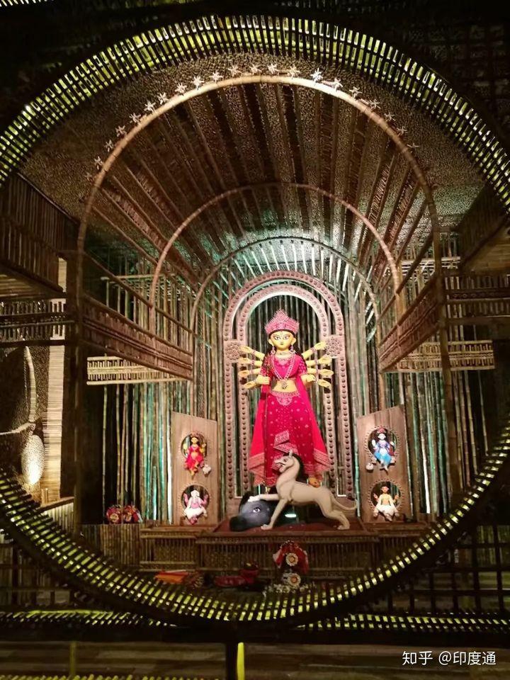加尔各答开始重金打造的神棚原来都是为了这位重量级女神!-印度通