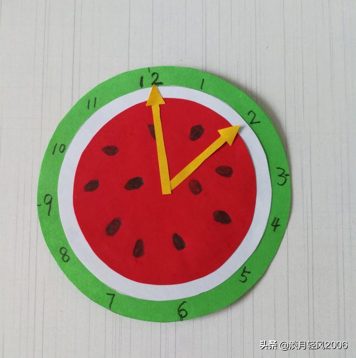 小手工在家做(带娃在家做西瓜钟表)