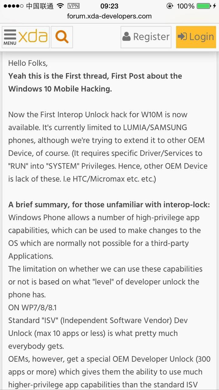 如何评价Windows 10 for mobile 被越狱? - 知乎