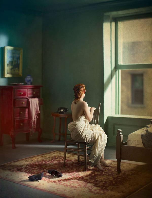 画家霍珀:花花世界,只有孤独是永恒的。下 张小玉