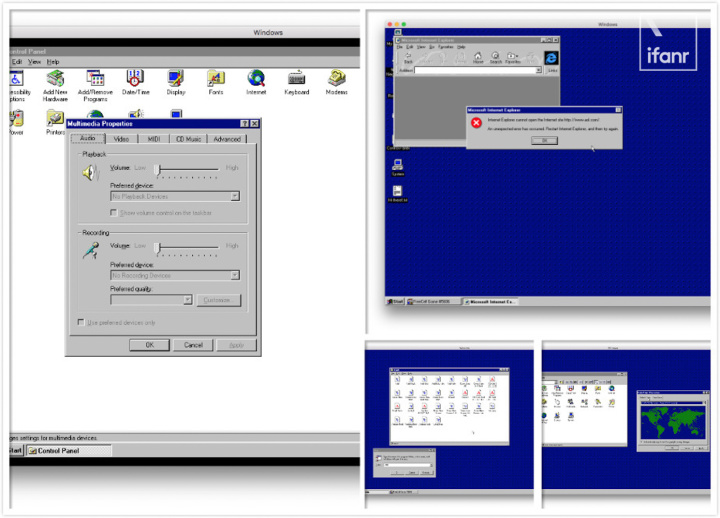 Windows 95 was made into a App  We experienced it on the computer