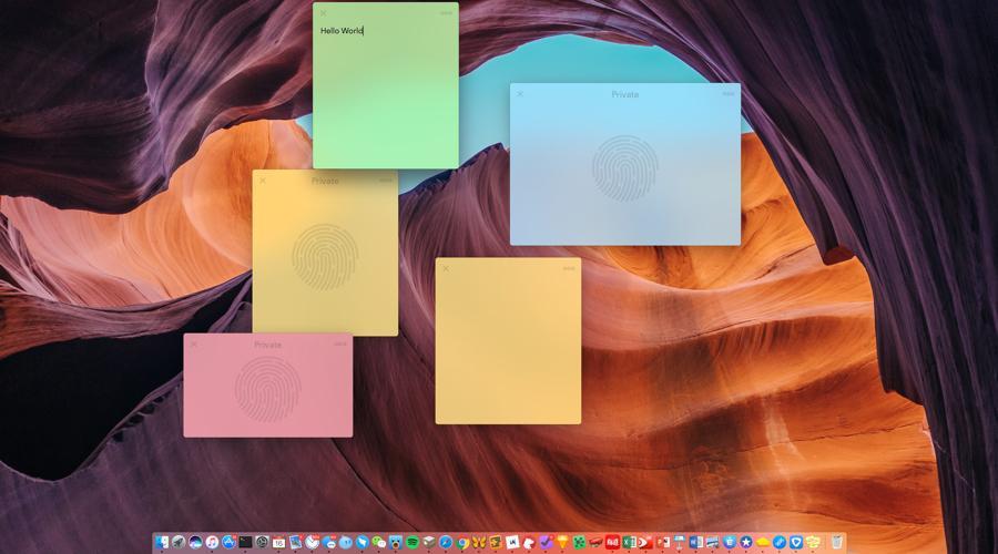 给你的便笺加个密 - Memo for Mac