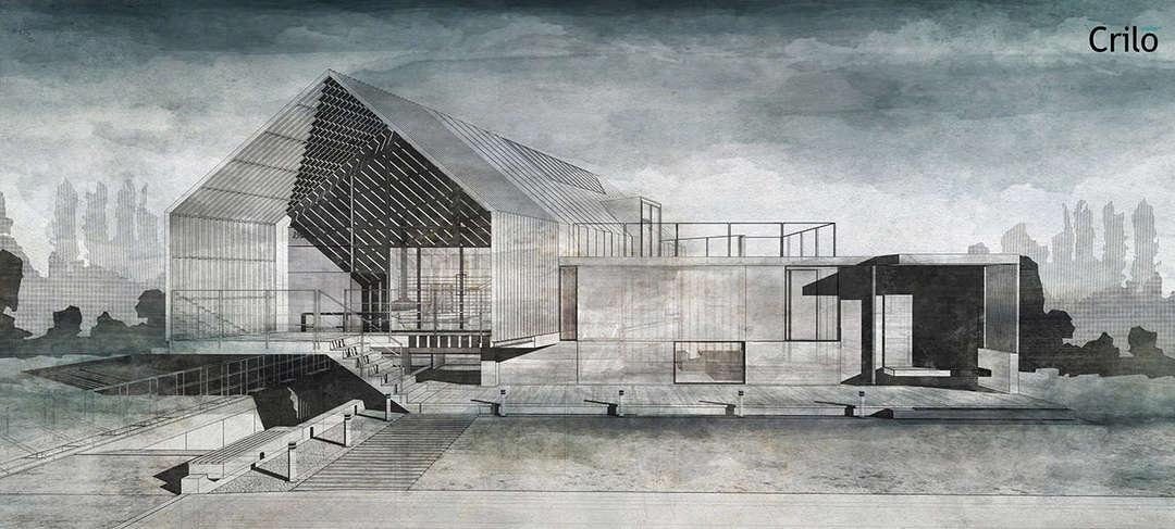 水彩风格的建筑效果图怎么做? 知乎