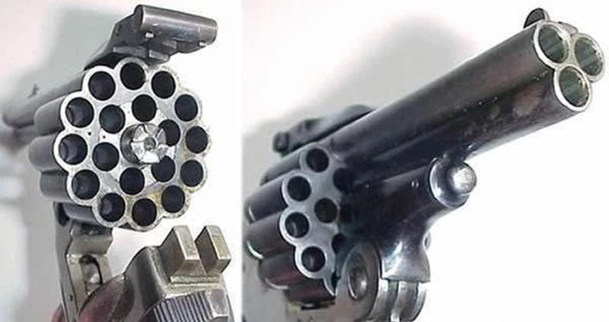 左轮装20发子弹:多管手枪能有多疯狂?