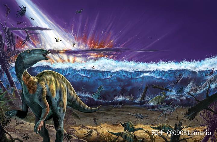 小行星撞地球把陆地上的恐龙都灭绝,那么翼龙和沧龙去哪里了?