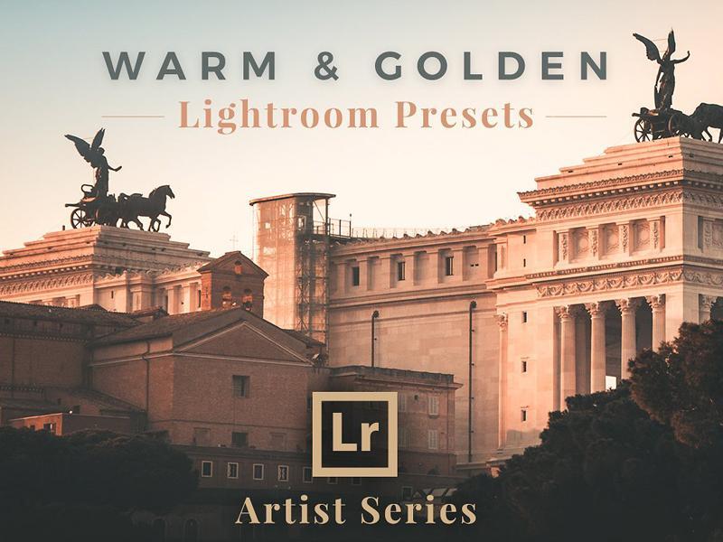 【S259】暖金色赛璐璐电影色调城市旅行摄影LR预设 PhotoMarket Warm Golden Lightroom Presets