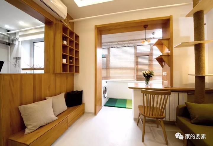 小户型卫生间_28平小户型改成两室一厅,还住下一家三口和两只猫! - 知乎