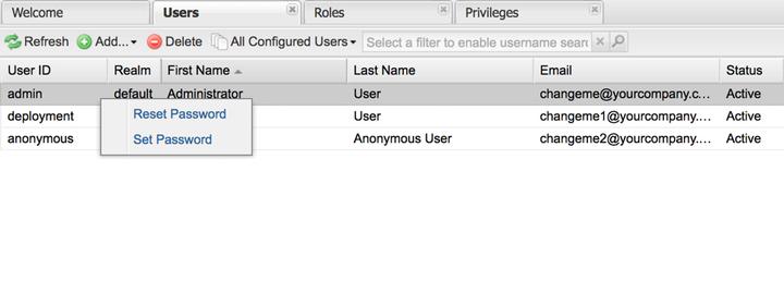 Nexus Anonymous User Default Password