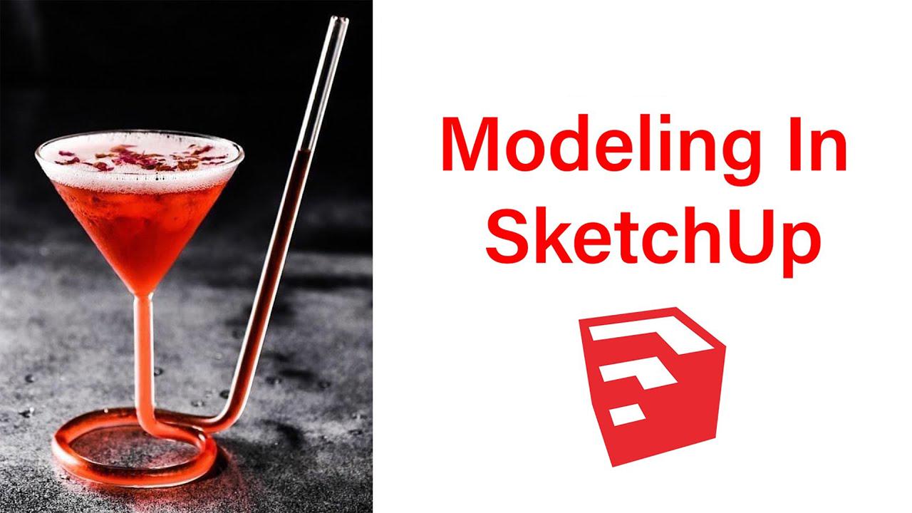 SketchUp异形玻璃杯建模国外教程