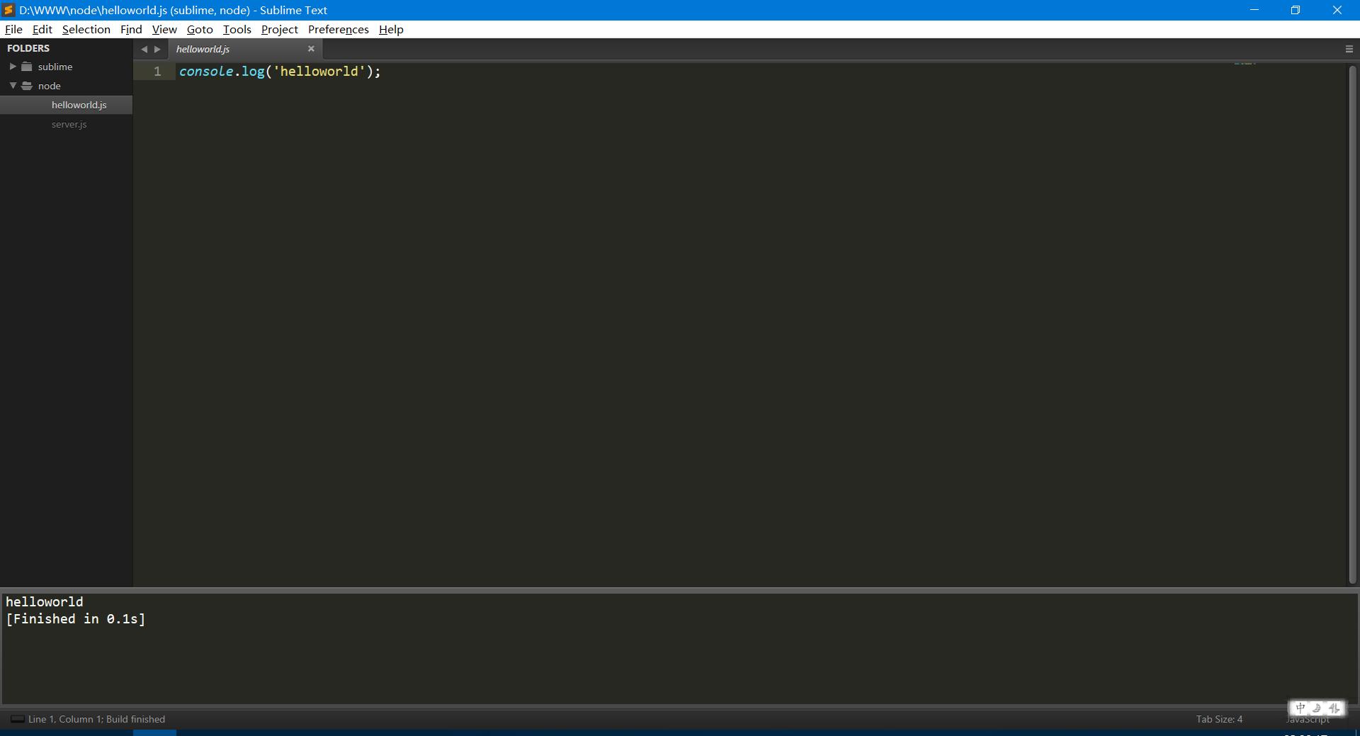 Sublime Text 3 Build System