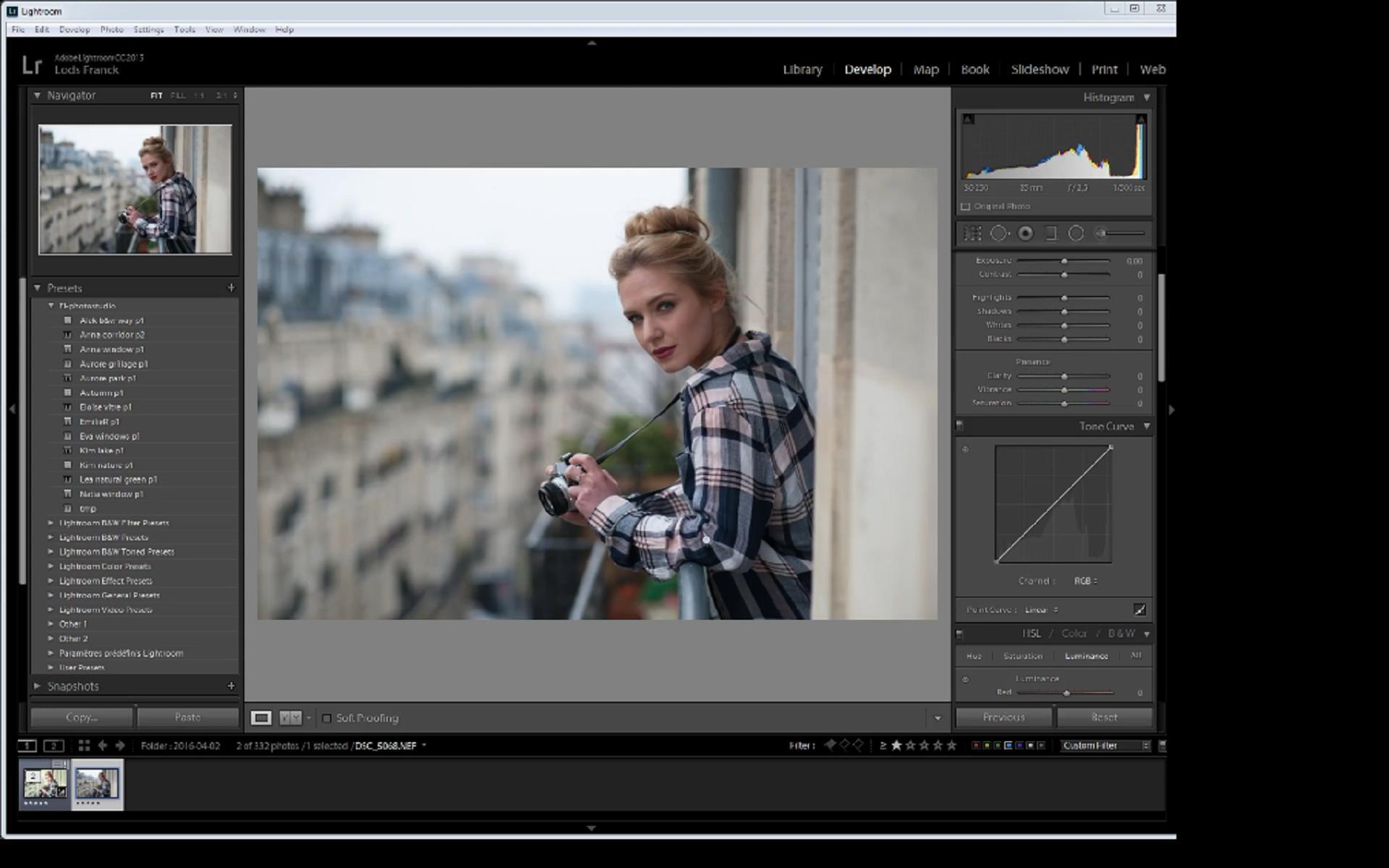 【S370】摄影师 Lods Franck 复古风格人像修饰教程Lods Franck Portrait Retouching: Eva