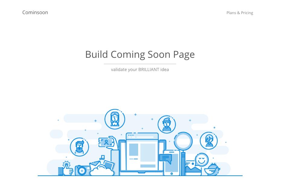 cominsoon.io is coming soon