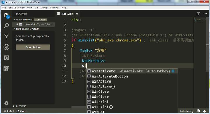 AutoHotKey编辑器推荐——VS Code - 知乎