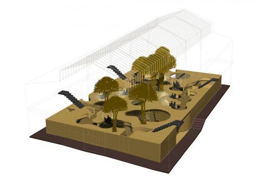 innotopia办公室装修-空间设计模型