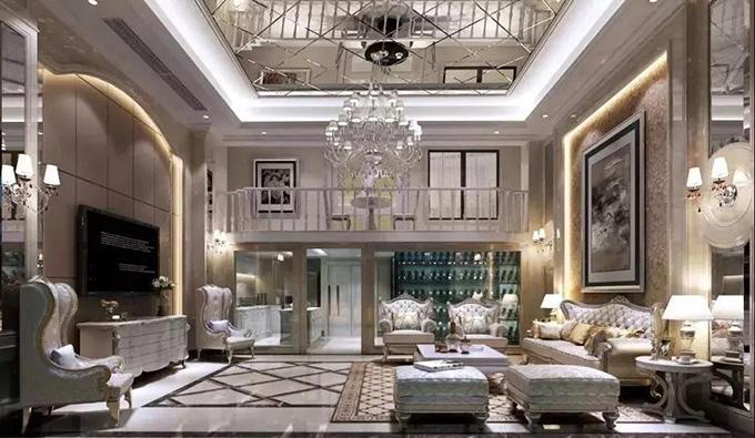 泰禾福州院子装修效果图:高贵典雅与庄重奢华并行的欧式之美