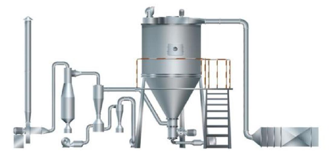 喷雾塔离心的工作原理_离心喷雾干燥器装配图