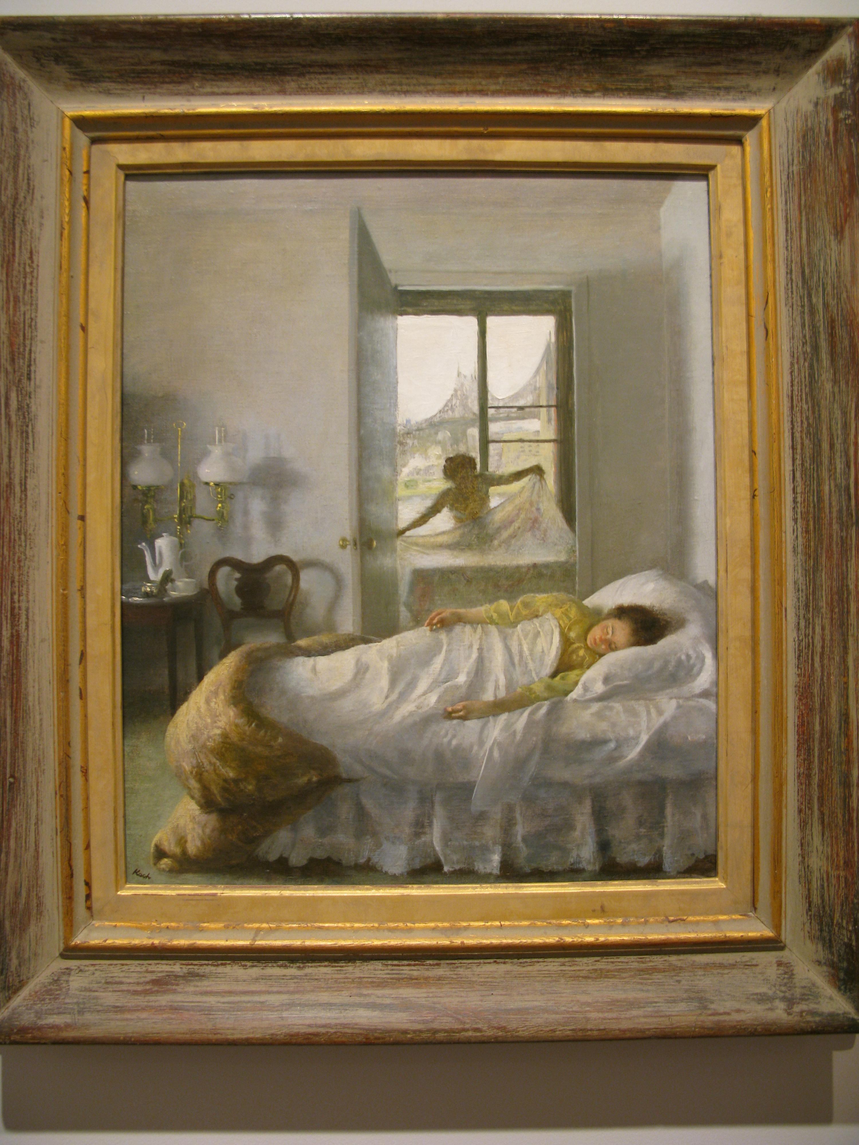 写给吃瓜群众的西方绘画找北指南(18):John Koch-The Bridge 油画构图欣赏