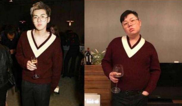 吴亦凡同款毛衣,很fashion,连拍照姿势都一样,为什么感觉差辣么多?