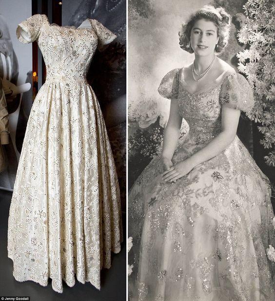 伊丽莎白二世年轻时穿过哪些服装,分别由谁设计? 知乎